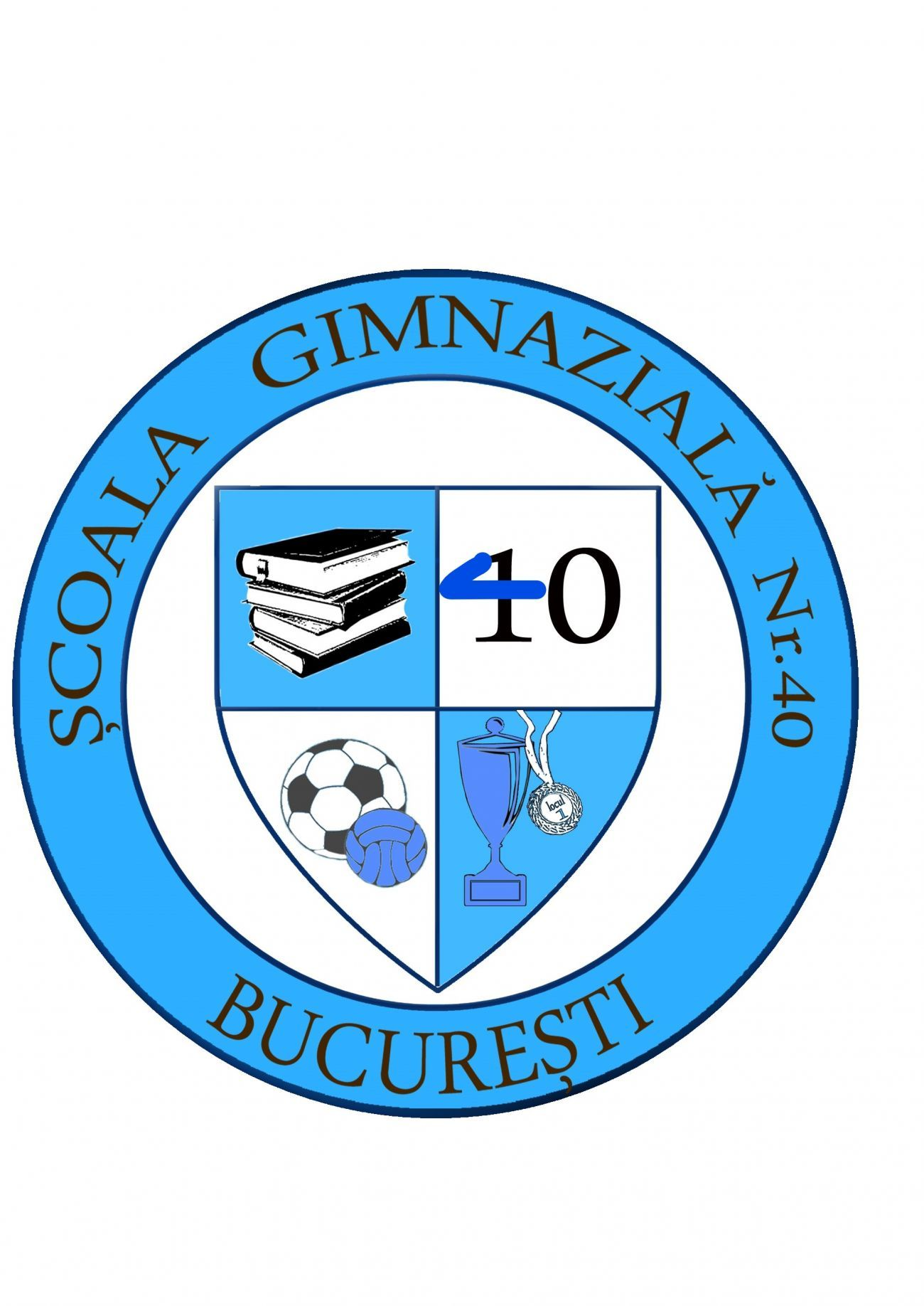 ȘCOALA GIMNAZIALĂ NR. 40 BUCUREȘTI Logo